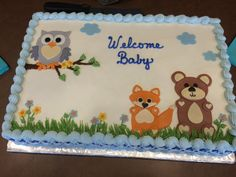 Our beautiful cake for woodland baby shower