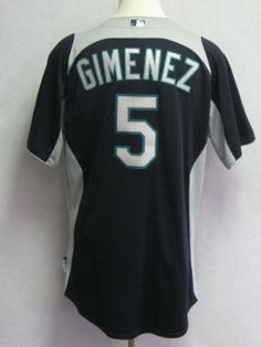 48b0b15a8 2011 Seattle Mariners Chris Gimenez  5 Game Issued Blue Batting Practice  Jersey - Game Used MLB Jerseys by Sports Memorabilia.  63.86.