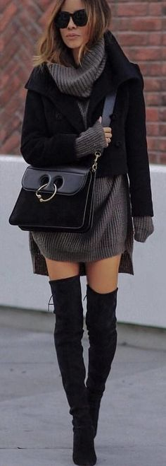 #winter #outfits black blazer