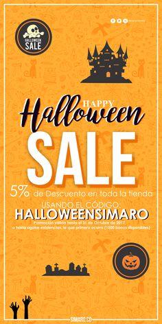 Para este Halloween obtén un 5% de Descuento en toda nuestra tienda usando el código: HALLOWEENSIMARO. @SimaroColombia #SimaroColombia #SimaroCo 🇨🇴 ️#Halloween #HalloweenSimaro 🎃 #Party #Fiesta #Disfraz #Costume #LoEncontramosPorTi #WeFindItForYou #SimaroMx ️🇲🇽 #SimaroBr 🇧🇷️ #Promo #Novedades #Compras #Regalos #Candy 🍫🍬 #Ofertas #Sale #Promociones #Virtual #ComercioElectronico #Envios #Delivery #CompraOnline