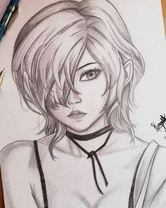 ✔ Anime Dibujos A Lapiz Tokyo Ghoul Dark Art Drawings, Pencil Art Drawings, Drawing Faces, Manga Drawing, Cute Cartoon Drawings, Art Drawings Sketches Simple, Anime Character Drawing, Character Art, Anime Sketch