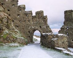 Tintagel Castle near Cornwall England in the Snow (c) EH