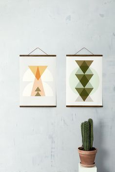 Inka and Totem Posters - Ferm Living (via Wolf Eyebrows) Wooden Picture Frames, Wooden Frames, Decorative Accessories, Home Accessories, Cadre Diy, Home Decor Online, Decoration Design, Danish Design, Scandinavian Design