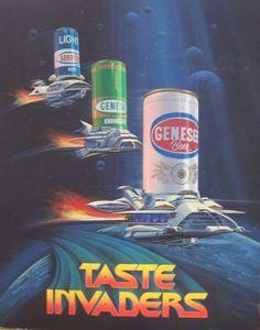 Genesee Taste Invaders Poster circa 1979