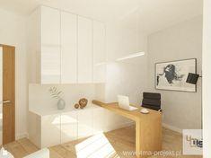 Wystrój wnętrz - Gabinet - pomysły na aranżacje. Projekty, które stanowią… Home Office, Office Desk, Alcove, Bathtub, Bedroom, House, Furniture, Home Decor, Standing Bath