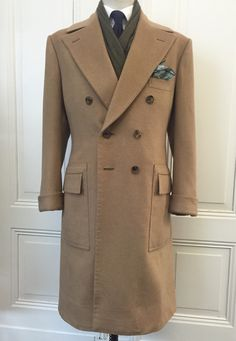 Purwin & Radczun Bespoke Polocoat. Turnback Cuffs, Postbox Pockets. Camelhair by Caccioppoli.