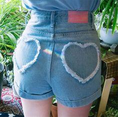 "Cute denim shorts SE10512 Coupon code ""cutekawaii"" for 10% off"