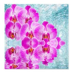 Purple Phalaenopsis Orchids In Pool Shower Curtain #showercurtain #orchids #cafepress #flowers $43.59 Sale into Summer! Up to 65% OFF with code: SUMTIME