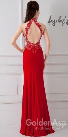 High Neckline Corset Dress Angela and Alison 41048, from Golden Asp's selection of open back #prom dresses. Visit our #dress shop in Bensalem, Pennsylvania, or shop for open back dresses online at http://www.goldenaspprom.com/shop/dresses/style/open-back-prom-dresses #prom2015 #prom2k15