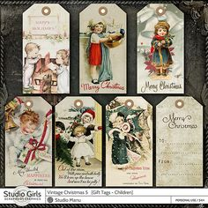 Scrapbookgraphics offers digital scrapbooking and altered art supplies, for the digital scrapbooker, computer crafter and digital artists! Holiday Gift Tags, Christmas Tag, Vintage Christmas, Scrapbook Designs, Scrapbook Supplies, 5 Gifts, Gift Tags Printable, Wrap, Printables