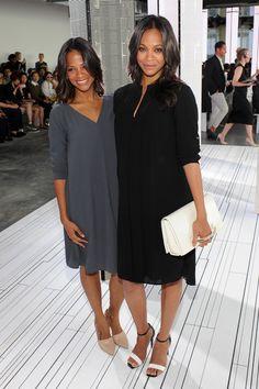 Cicely and Zoe Saldana at Boss - Front Row - NY  Fashion Week September 9th 2014