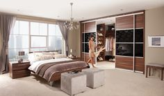 our walk-in-wardrobes boast sliding doors for the ultra-contemporary look