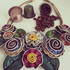 #smykker laget med #nespresso kapsler. En perfekt #gaver for #veninner eller…