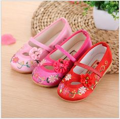f49aae20095 Children Shoes Girls 2016 New Soft Dance Shoes Old Peking Girl Kids  Sneakers Chinese Traditional Shoes Old Beijing Footwear-in Sneakers from  Mother   Kids ...