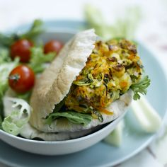 Vegetarische halloumiburgers in pitta's #vega #WeightWatchers #WWrecept