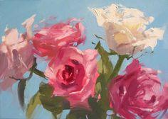 "ROSE ROSE BLUE - 5"" x 7"" - Oil"