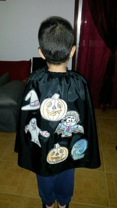 Capa improvisada para o Halloween