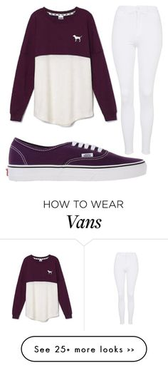 """Untitled #1025"" by pinkunicorn007 on Polyvore featuring Vans, Victoria's Secret and Topshop"