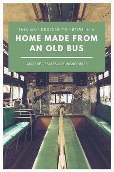 When most people retire their goal is to relax on the beach somewhere, but not for Frank. His goal was to create an amazing home from an old bus. The result of this DIY is truly incredible and inspiring!