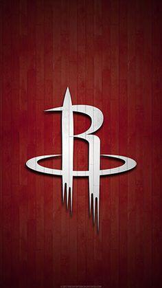 Houston Rockets Mobile hardwood Logo Wallpaper v1