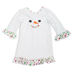 Make me melt!  Holiday Clothing.  Snowman Dress.  Lolly Wolly Doodle.