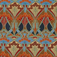 "The ""Ianthe"" pattern was originally created in 1900 by French designer R. Beauclair and was used by the company Liberty of London. The print comes in many color combinations and is still used for fabric designs today. source."