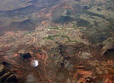 Aerial view of the Village of Oak Creek, Arizona.