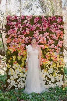 rainbow floral backdrop