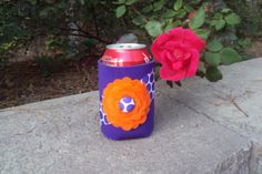 Clemson Hot to Dot Bloomin' Coozie by bloominidiotdesigns on Etsy, $8.00