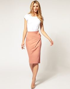 The asymmetry of the skirt adds something special. I'm putting an embargo on plain pencil skirts.