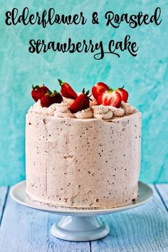 Elderflower Strawberry Layer Cakes, Strawberry Puree, Cupcake Recipes, Cupcake Cakes, Dessert Recipes, Cupcakes, Roasted Strawberries, Trifle Pudding, Birthday Desserts