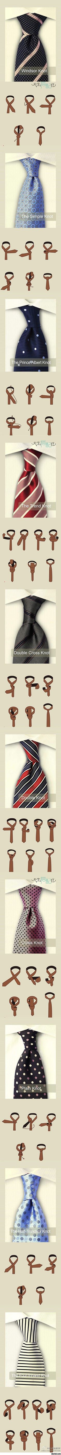 Different ways to tie a tie and look like a distinguished gentleman