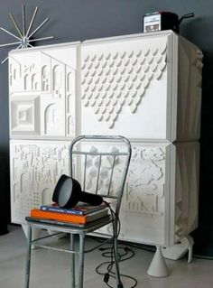 3D-Printed Storage Units - The Cabinet Tout va Bien by BD Barcelona Features Quirky Design Details (GALLERY)