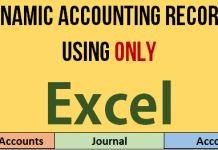 Making dynamic Chart of Accounts, Journal + Ledgers in Excel – How To