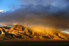 There was a rain of gold over the Gangtise Mountain Range, Tibet by reurinkjan, via Flickr