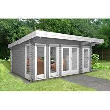Moderne holzgarage  Modernes Gartenhaus (Gartenhaus Modern) mit Terrasse Lucas E 9m² ...