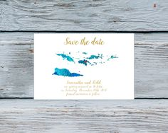 Save the date destination wedding card Virgin Islands travel theme Save the date Any destination save the date cards destination wedding by Kompostela on Etsy