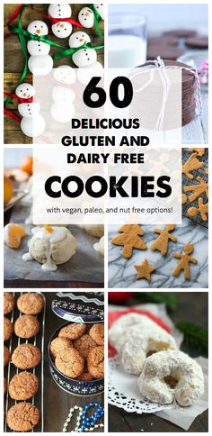 60 Gluten Free and Dairy Free Christmas Cookies - @TheFitCookie #glutenfree #dairyfree