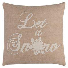 Rizzy Home Let It Snow Decorative Pillow - PILT10177BRIV2020, Durable