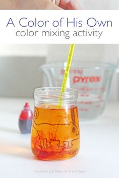 A Color of His Own: Predicting Color Changes. A fun color mixing activity for your preschool and kindergarten kids. Perfect science activity after reading the book Color of His Own.  - Pre-K Pages