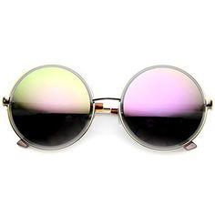 316ef426d3 Super Large Oversized Metal Round Circle Sunglasses