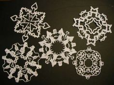 Great snowflake making how-to!