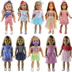 Our 18 inch doll clothes are designed to fit American Girl Doll, Our Generation Doll, My Life Doll, Journey Girls Doll, Gotz Doll and Madame Alexander 18 Girl Dolls and Outfits make cool gifts for any girl on your list. Ultimate Doll Playset---10 different 18 inches clothes with unique designs. A Girl Doll Clothes, Girl Dolls, Casual Holiday Outfits, Og Dolls, Journey Girls, Our Generation Dolls, Bitty Baby, Doll Shoes, 18 Inch Doll
