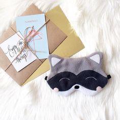 Raccoon sleeping mask Funny sleep mask Sleep mask for women