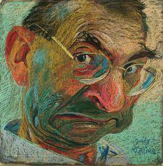 Johannes Grützke - Selbstbildnis II., 2002, pastel...