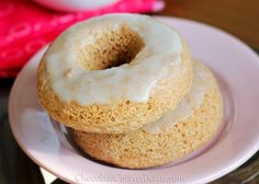 HEALTHY doughnut recipe for soft and fluffy doughnuts, not dense and gummy like most baked doughnut recipes. They taste like a healthier version of Krispy Kreme! http://chocolatecoveredkatie.com/2013/02/22/homemade-krispy-kreme-doughnuts-the-healthy-version/ #vegan