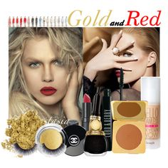 """""""Gold'n' Red"""" by gerry96 on Polyvore"""
