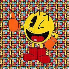 PACMAN BLOTTER ART PSYCHEDELIC PERFORATED PRINT ACID LSD FREE 900 TABS HOFMANN
