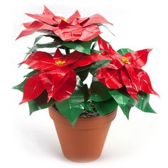 How to Make a Duct Tape Poinsettia #ducktape #craft
