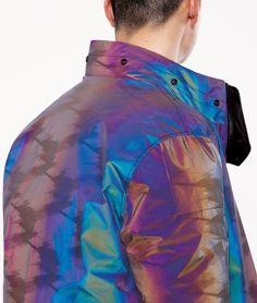Stone Island Shadow Project FW18 Lookbook Reflective Jacket Bomber Rainbow Color